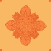 Paisley square orange