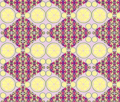 Lemons Double Tart Double Vision - lavender fabric by walkwithmagistudio on Spoonflower - custom fabric