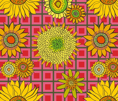 Sunflower_fabric_green-red-salmon_check.ai_shop_preview