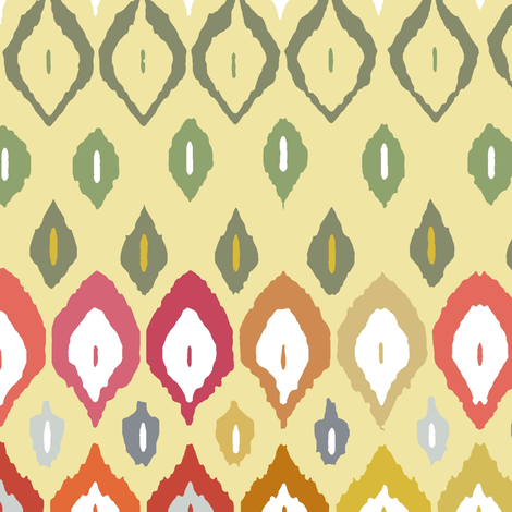 beach house ikat fabric by scrummy on Spoonflower - custom fabric