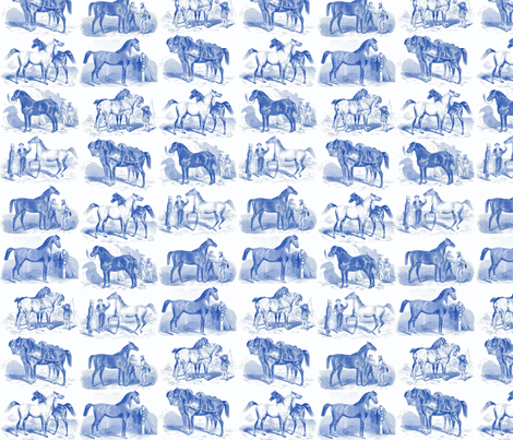 horsesblue fabric by ragan on Spoonflower - custom fabric