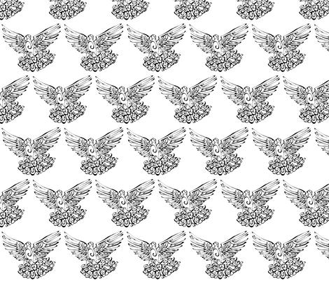 Inkblot Turtledove fabric by art_rat on Spoonflower - custom fabric
