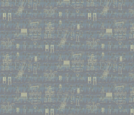 weathered patent drawings fabric by glimmericks on Spoonflower - custom fabric