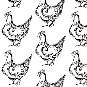 Inkblot French Hen