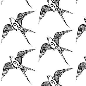 Inkblot Calling Bird