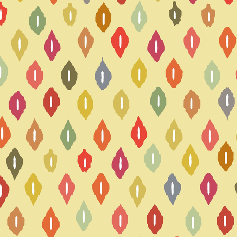 beach house ikat diamonds fabric by scrummy on Spoonflower - custom fabric