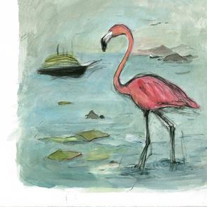 Flamingo chair cushion