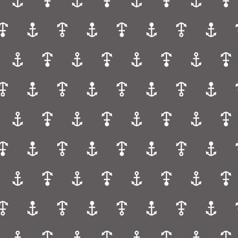anchor_gry_wht fabric by lpt-workshop on Spoonflower - custom fabric