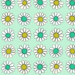Retro Daisy | Gold/Teal/Mint