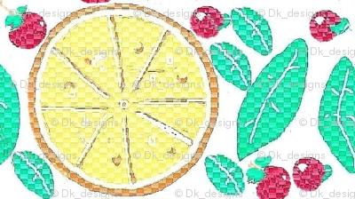 lemon,mint and cherry fruit