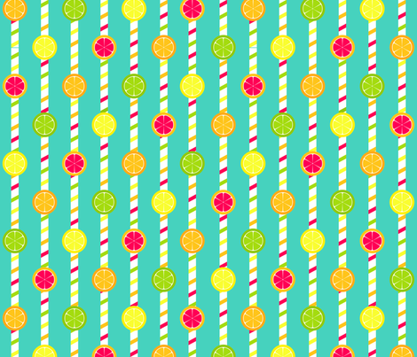 Citrus Straws fabric by modgeek on Spoonflower - custom fabric