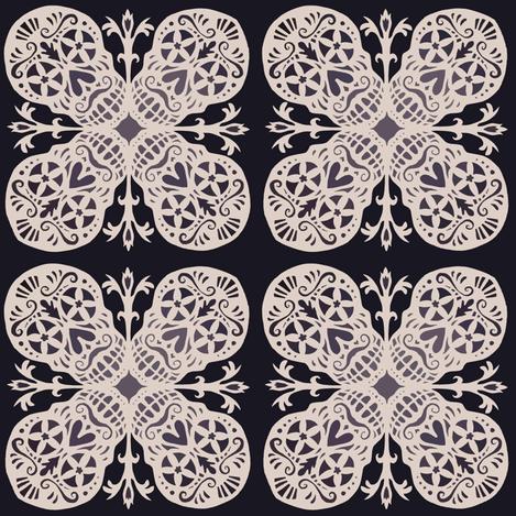Calaveras Flake fabric by kitcameo on Spoonflower - custom fabric