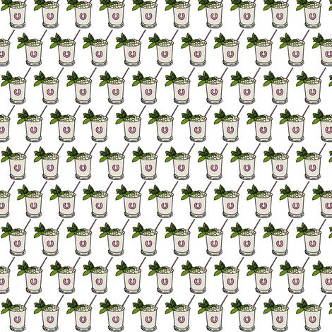 Julep Cups - pink fabric by ragan on Spoonflower - custom fabric
