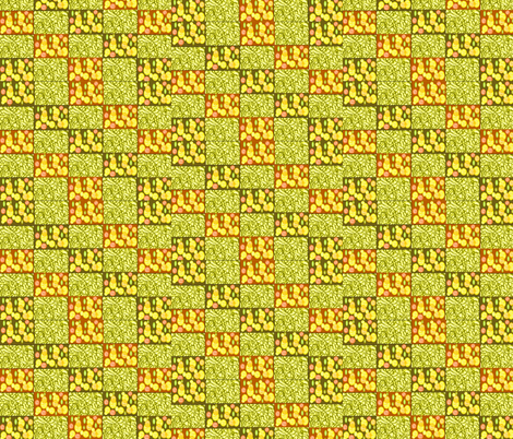 Oranges and Lemons on string fabric by winterblossom on Spoonflower - custom fabric