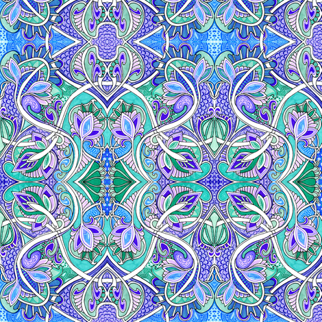 The Dragon's Lair fabric by edsel2084 on Spoonflower - custom fabric