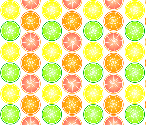 Fresh Cut Citrus fabric by jannasalak on Spoonflower - custom fabric