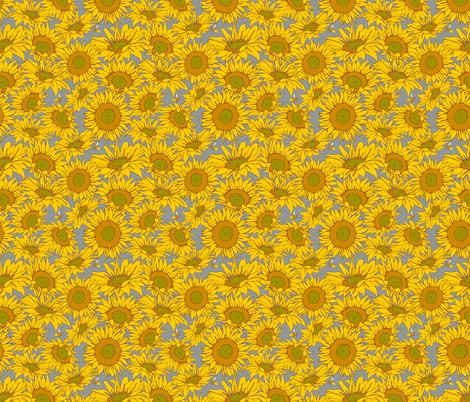 Sunflower Shower fabric by audsbodkin on Spoonflower - custom fabric