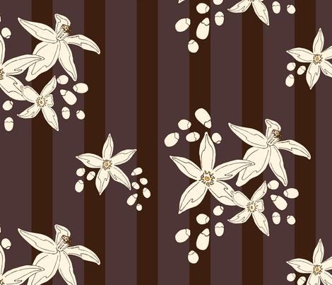 Orange Blossom Stripe fabric by audsbodkin on Spoonflower - custom fabric