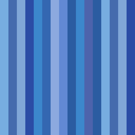 blue serenity stripes fabric by weavingmajor on Spoonflower - custom fabric