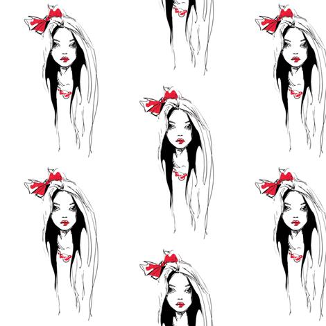 California girl fabric by mezzime on Spoonflower - custom fabric