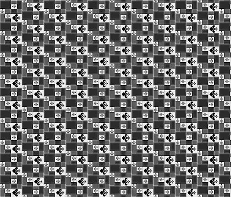 Checkerboard Fleur de Lys fabric by ravynscache on Spoonflower - custom fabric