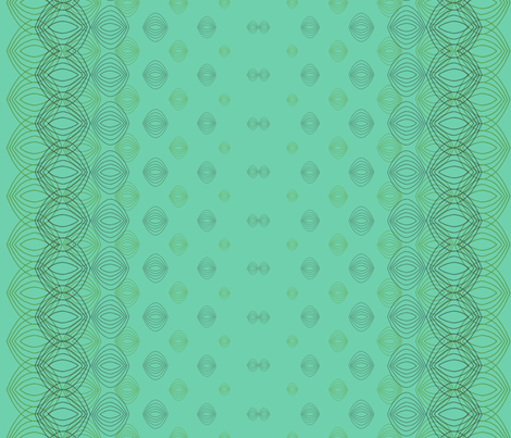 Onion Slices Green fabric by atomic_bloom on Spoonflower - custom fabric