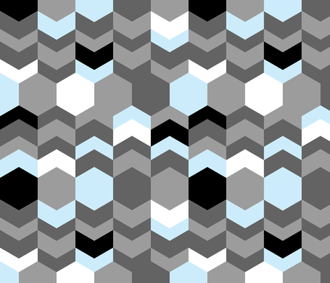 hexagon tower fabric by renateandtheanthouse on Spoonflower - custom fabric