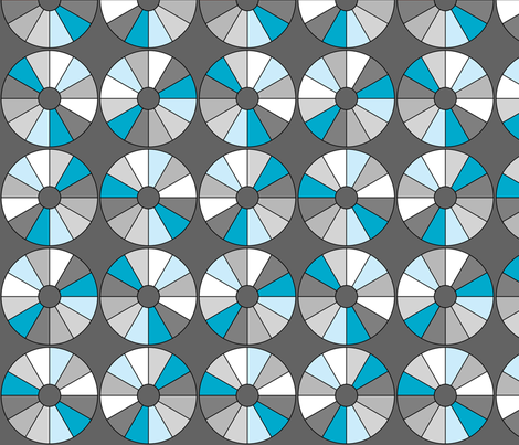 spinning disc fabric by renateandtheanthouse on Spoonflower - custom fabric