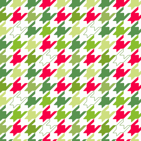 Mini Holiday Houndstooth fabric by pattysloniger on Spoonflower - custom fabric