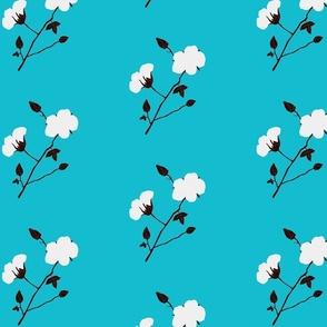 Cotton Plant (Blue)
