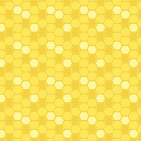 Golden Honeycomb fabric by pattysloniger on Spoonflower - custom fabric