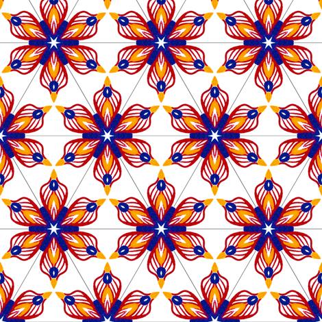 Circus Mixer Star fabric by siya on Spoonflower - custom fabric