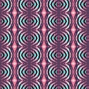 pink and purple batik circles