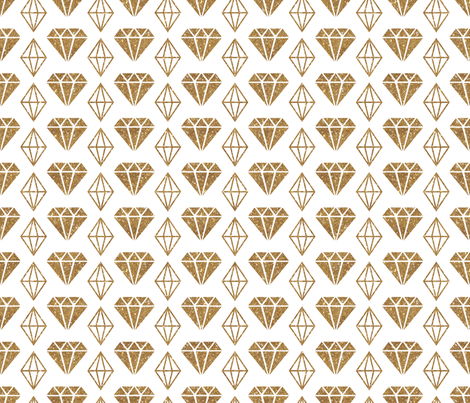 Sparkle Diamonds - Gold fabric by cynthiafrenette on Spoonflower - custom fabric