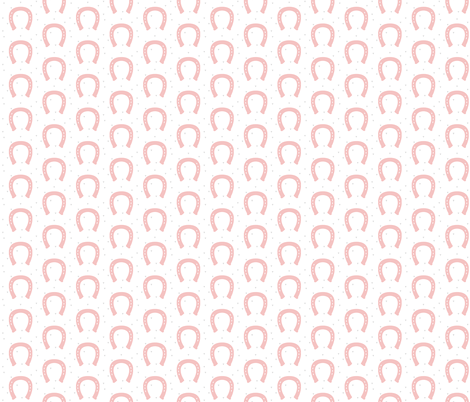 Pink Horseshoe fabric by rileymade on Spoonflower - custom fabric
