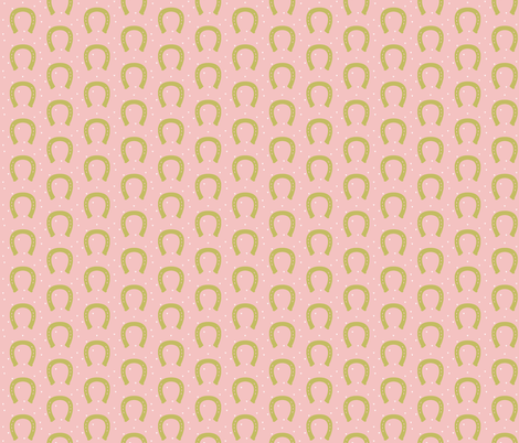 Pink and Gold Horseshoe fabric by rileymade on Spoonflower - custom fabric
