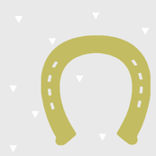 Gray and Gold Horseshoe