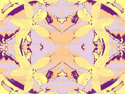 Lemon Blossem lavender garland