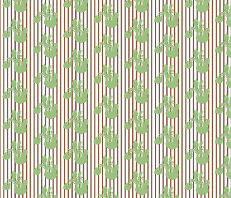 iris_contrast_brown_stripe fabric by tangledvinestudio on Spoonflower - custom fabric