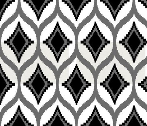 aztec_diamond_black fabric by crisbucknall on Spoonflower - custom fabric