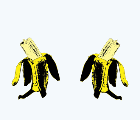 Warhol_ate_the_banana fabric by susiprint on Spoonflower - custom fabric