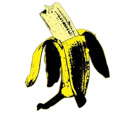 Warhol ate the banana.# 1 fabric by susiprint on Spoonflower - custom fabric