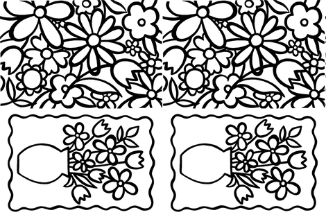 teatowel_flowers_2x fabric by rosesarered on Spoonflower - custom fabric