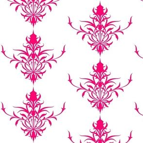 StylizedThistle In Fuchsia & White