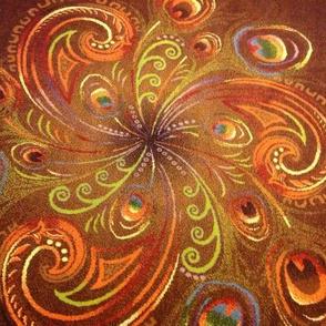 Peacock swirls image