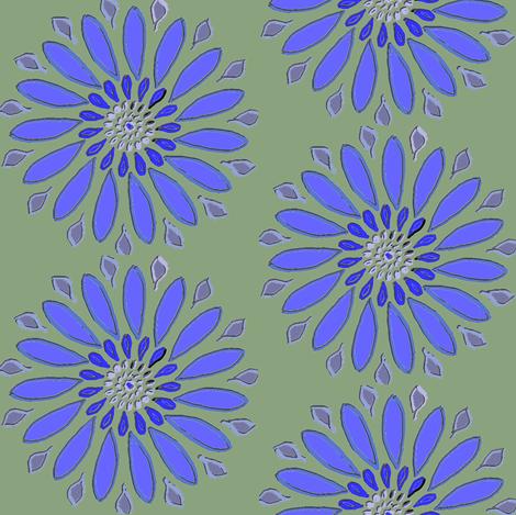 Cornflower fabric by ravynscache on Spoonflower - custom fabric