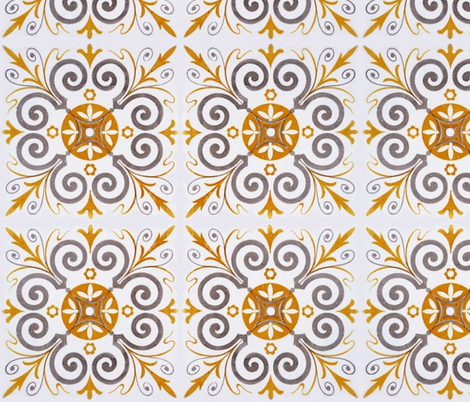Tile fabric by mezzime on Spoonflower - custom fabric