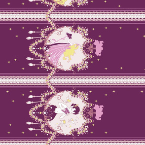 Cupid Painted Blind (Wine Border)