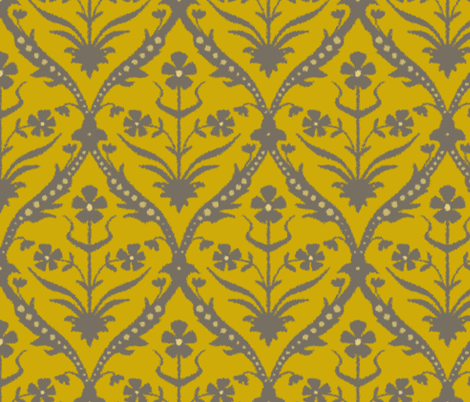 Mahin trellis ikat fabric by scrummy on Spoonflower - custom fabric