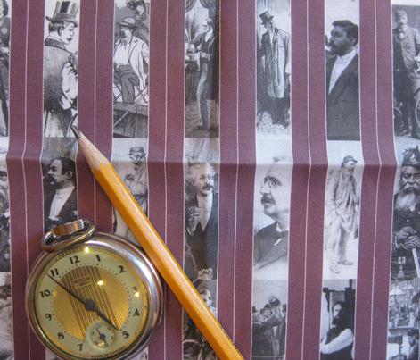 Victorian Men Pinstripe